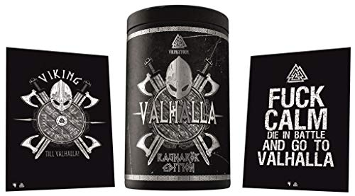 Gods Rage Valhalla Edition Pre-Workout Booster Trainingsbooster Bodybuilding - Inkl. Postkarten 400g (Odins Berries)