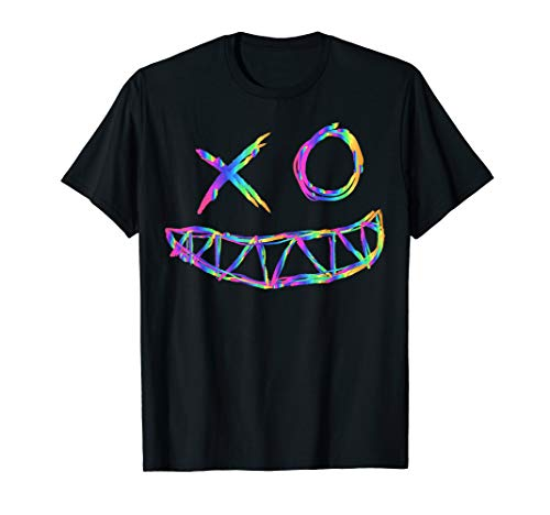 Rainbow Rave Face Festival Tekk T Shirt Men & Woman