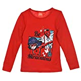 Miraculous Ladybug Tee Shirt Fille Manches Longues - Rouge - 6 Ans