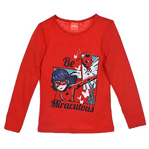 Ladybug Niñas Camiseta de Manga Larga