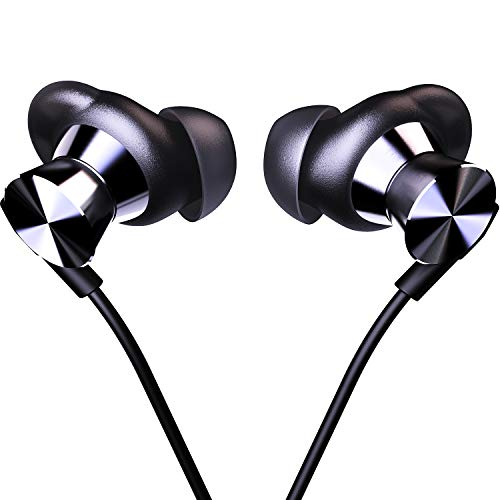 in Ear Headphones Wired Earbud with Line-in Microphone Heavy Bass Dynamic Driver Earphones with Non Tangle Fabric Braid for Running Gym Android Phones Music Player617