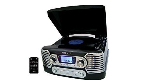 Nevir NVR-801 VMUC NE - Tocadiscos (CD, USB) color negro