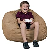FUGU Kids Beanbag Chair, Premium Foam Filled 2', Protective Liner Plus Removable Machine Wash, Black