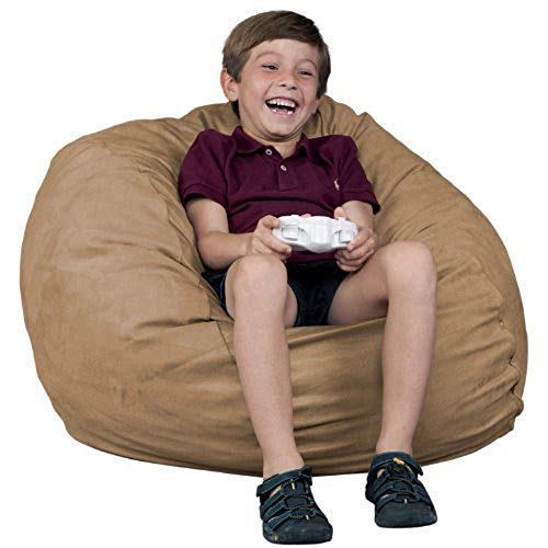 FUGU Bean Bag Chair, Premium Foam Filled 7 XL, Protective Liner Plus Removable Machine Wash Grey Cover