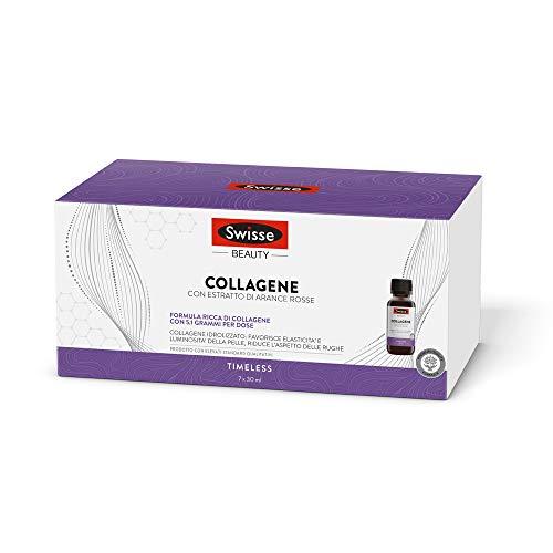 Swisse Collagene, Integratore Alimentare con Estratto di Arance Rosse, 7 Flaconcini da 30 ml