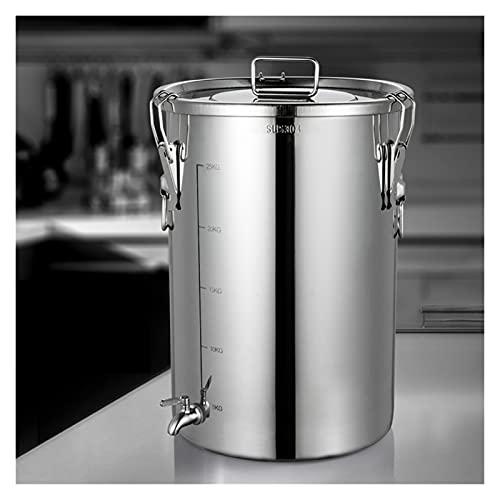 XYSQ Botes Legumbres Cocina, Cubo para Almacenar Arroz con Tapa Sellada, Caja De Almacenamiento De Cocina, Té De Café Y Azúcar, Tanque De Barril De Fermentación Transportable (Size : 30L)