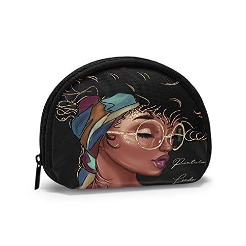 Menyuan Bolsa de maquillaje de viaje con bolsa de embrague portátil, para almacenamiento de artículos de tocador, bolsa de aseo para mujer con cremallera, Africano americano (1)2, Talla única,