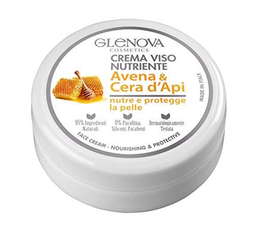 GLENOVA nährende Gesichtscreme mit Hafer und Bienenwachs - pflegt und schützt die Haut