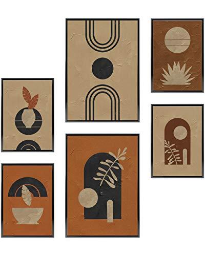 Heimlich Cuadros Decorativos - SIN Marcos - Decoración Colgante para Paredes de Sala, Dormitorios y Cocina - Arte Mural - 2 x A3 (30x42cm) et 4 x A4 (21x30cm) | »Atelier Modern «