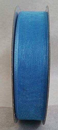 Ruban organza 20 mm rouleau 50 m 50 m 22 couleurs disponibles (Avion Bleu)