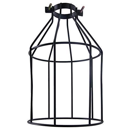 Jaula de lámpara vintage de alta calidad con forma de diamante, colgante, lámpara de techo, lámpara de jaula decorativa, color negro, para cocina, loft, pasillo, dormitorio, bar, café