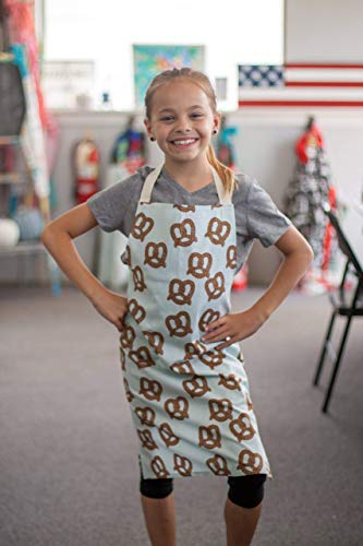 Handmade Blue Pretzel Kitchen Crafts or Art Apron Gift for Kids