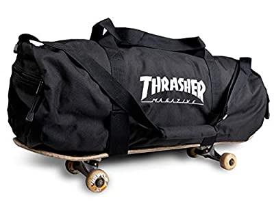 "Thrasher Magazine Embroidered Skate Mag Logo Duffle Bag - Black - 28""x 10""x 11"""