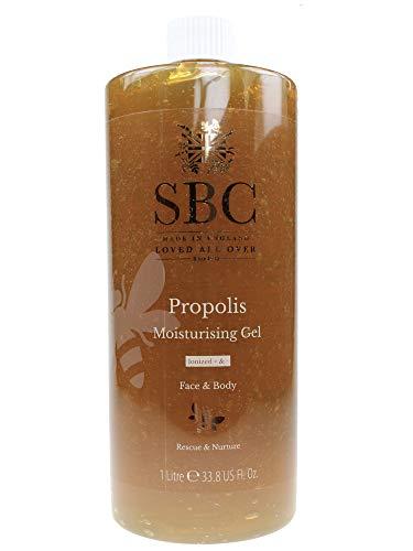 SBC Propolis Hautpflege Gel 1000 ml - Leichtes, schnell einziehendes, nicht klebriges, Gel auf Wasserbasis