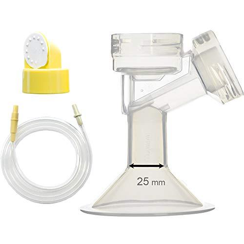 Maymom Kit extractor de leche Medela de oscilación de lactancia. Incluye 1 mediana para senos (Comparable a Medela PersonalFit 24mm), 1 válvula, 1 membrana y 1 tubo de repuesto para la bomba de oscilación Medela. Reemplace Medela PersonalFit 24mm senos, válvula, membrana, y tubo swing
