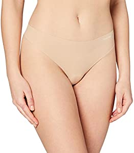 Calvin Klein INVISIBLES - THONG Ropa interior, Beige (LIGHT CARAMEL 1LC), S para Mujer