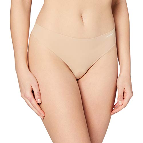 Calvin Klein String Invisibles Ropa interior, Beige (Light Caramel 1Lc), S para Mujer