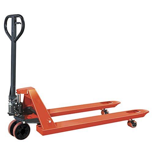 Transpallet manuale rulli singoli, sollevatore pallet ruote in poliuretano, portata 2500 kg, forche 1150x550 mm professionale, carrello elevatore standard 2,5 T - echoENG - MA SL TT24
