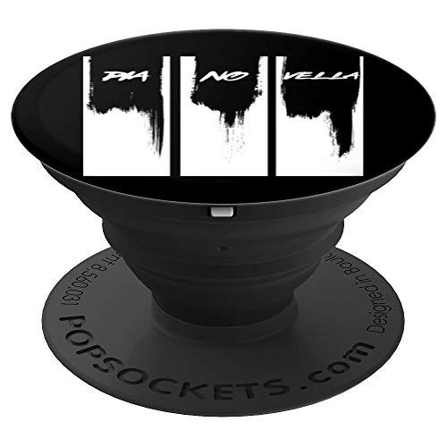 Piano Vella Pianovella Pianista Teclado Sintetizador Regalo PopSockets Agarre y Soporte para Teléfonos y Tabletas
