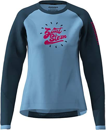 Zimtstern Girls MTB-Jersey Langarm PureFlowz Blau Gr. M