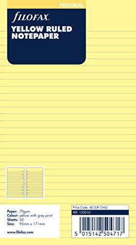 ファイロファックス『システム手帳 リフィル 横罫 イエロー』