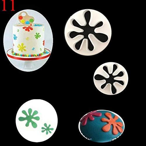 DACCU 1 set fondantsnijder kolf koekjesvorm cake bloem blad ster decor vorm DIY handgemaakte bakgereedschappen keuken bakvormen