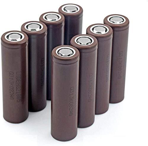 Baterías De Iones De Litio 20A Descarga Máxima 3.7V 18650 3000MahCorriente Recargable DeIones DeLitio para La Luz del Proyector Principal 1 Pieza-8 Piezas