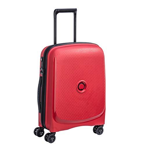 DELSEY Paris Belmont Plus Equipaje de Mano, 55 cm, 38 Liters, Rojo (Rouge)