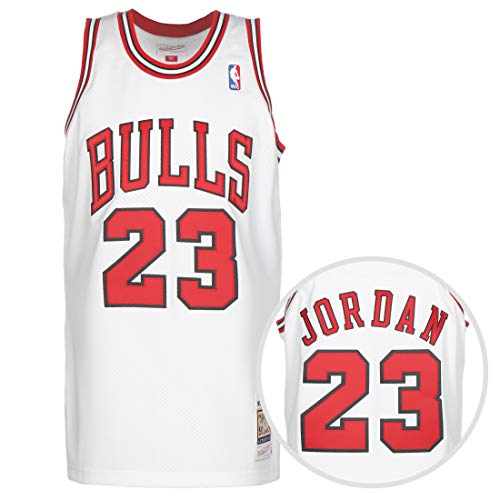Mitchell & Ness NBA Chicago Bulls Michael Jordan Authentic Trikot Herren weiß/rot, M