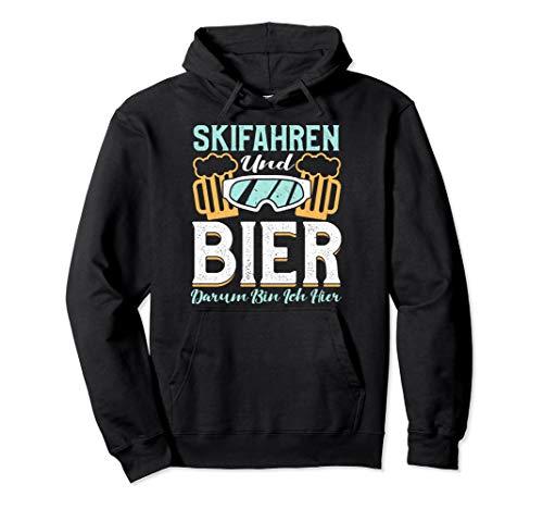 Lustig Skifahren und Bier darum bin ich hier - Ski Skier Pullover Hoodie