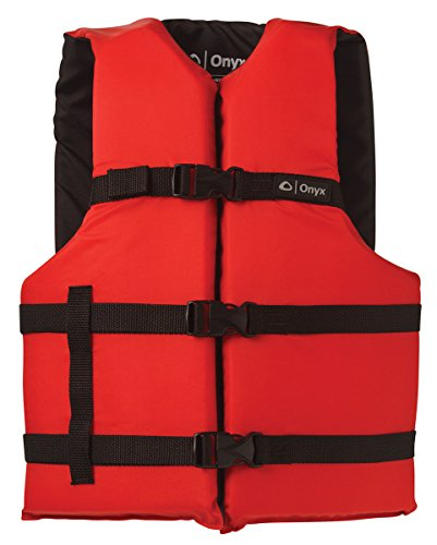 ONYX General Purpose Boating Life Jacket Universal, Red