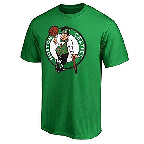 LLSDLS NBA Celtics Jersey Camiseta for Hombre Cuello Redondo Top Cómodo Transpirable Manga Corta Ropa de competición Deportiva for jóvenes Camiseta (Color : Green, Size : M)