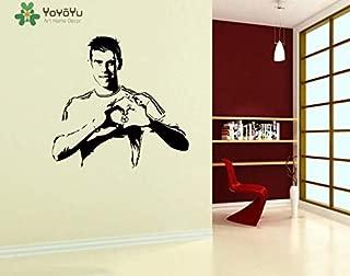 wukongsun Jugador de fútbol Chico Pegatina de Pared Dormitorio Estrella de fútbol Fresca Vinilo calcomanía Sala de Estar decoración del hogar Mural 79cmX75cm