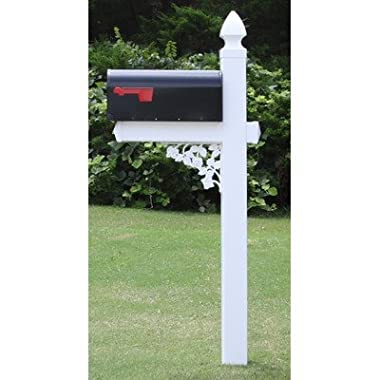 The Darlington Vinyl / PVC Mailbox Post (Includes Mailbox)(Blank - No Numbers Included)