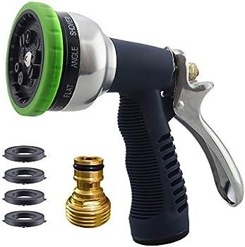 Fxuoukze Heavy Duty Metal Hose Nozzle for Garden