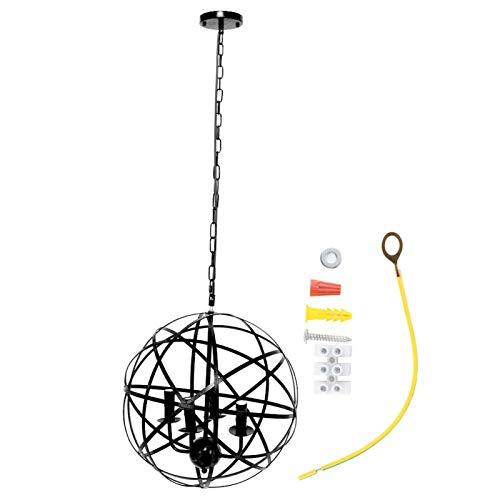 Lámpara colgante de iluminación cálida Retro 85-265V para restaurante(negro)