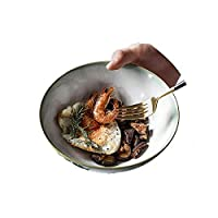 ZJP ラーメン丼ラーメンラーメンスープ丼セラミックアジアンうどんそばと箸付きホテルレストラン家庭用(Size:950ML,Color:緑)