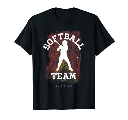 East Timor Softball Team Girls Baseball Mujeres Softball Camiseta