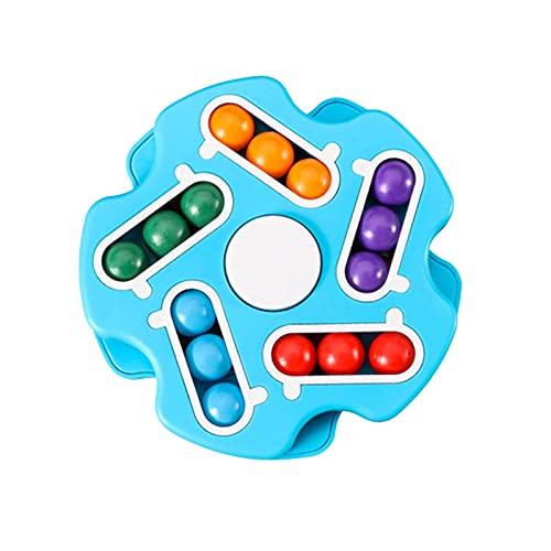 Spinning Magic Bean Cube Juguetes, Top Spinning Fidget Spinners Puzzle Juguete Puzzle Educativo Cubo DecomPresión Pequeño Cuadrado Rotativo Mágico Puzzles Beads para Niños Adultos Alivia El Estrés