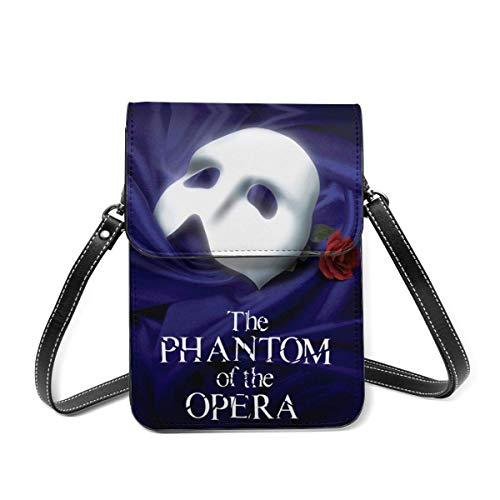 Hdadwy Das Phantom der Oper Leichte Leder Mini Handtasche Damenmode Handytasche Schulter Diagonale Geldbörse