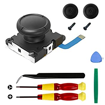Veanic Replacement Joystick Compatible with Nintendo Switch Joy-Con Controller Analog Thumb Stick Include Tri-Wing & Cross Screwdriver Tool + 2 Thumbstick Caps