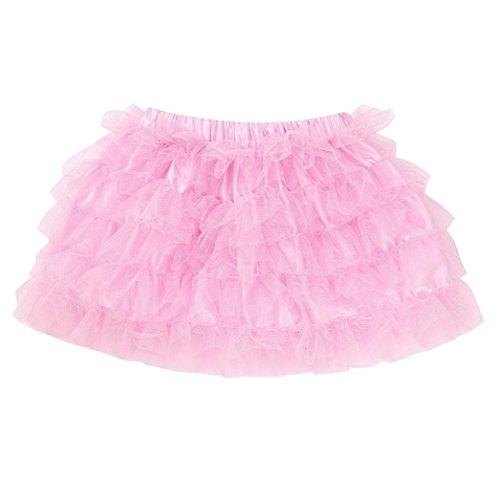 URSING Kleinkind Baby Kinder Mädchen Tanzrock Tutu-Rock Pettiskirt Tutu Kleid Vintage Petticoat Reifröcke Unterrock für Rockabilly Kleid Festliches Kleid Brautkleid Dancewear (Rosa,100)