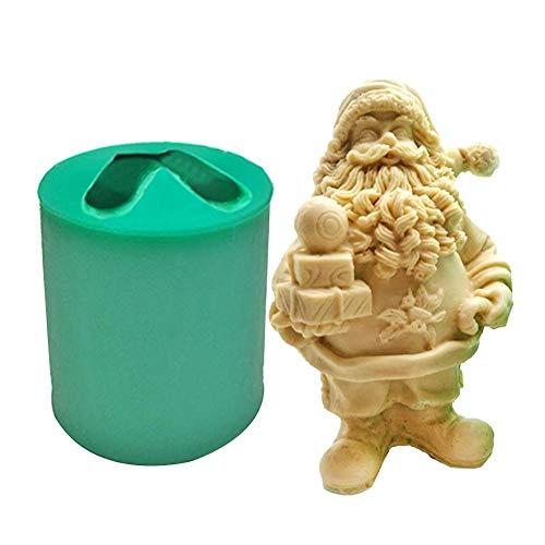 3D Silikonform, Weihnachtsmann Silikonform Kerzengießform DIY Silikonform 3D Weihnachtsmann Silikonform Harz Figur Form Für Die Herstellung Von Kerzen, Aromasteinen, Schokolade, Seife usw. Utensil