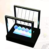 Gifts for Men, Baoniu Newtons Swing Ball, LED Light Up by Kinetic Energy, Newtons Cradle for Home and Office Decor, Science Kids Toys, Very Stylish Balance Balls Desk Toys Decoration