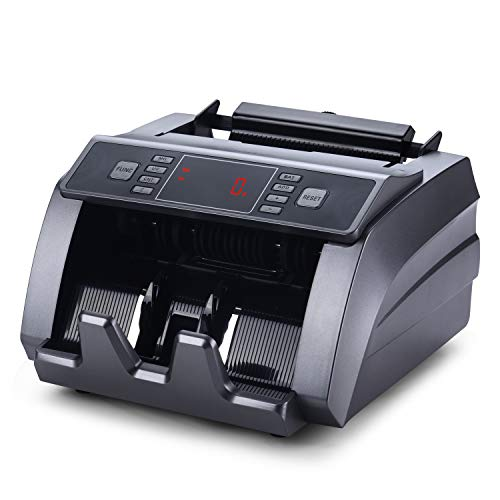 Money Counter with UV, Magnetic and Infrared Counterfeit Detection, Bill Counting Machine with Higher speeds, 1000 Bills Per Minute, Professional Cash Counting Machine and 1 Year Warranty
