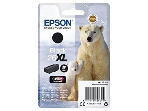 Epson original - Epson Expression Premium XP-520 (26XL / C13T26214012) - Tintenpatrone schwarz - 500 Seiten - 12,2ml