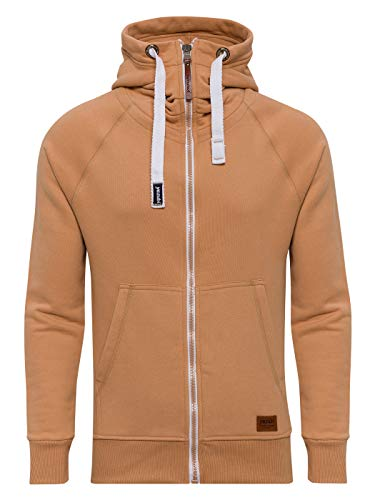 Yazubi Men's Full Zip Midweight Hoodies Jacob Gold Men Vintage Sweatshirts Hoody, Yellow (Indian Tan 171328), L