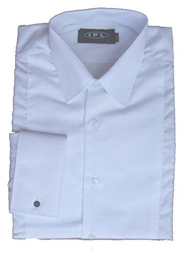 Uniform Store London pour Homme Marcella Avant, Collier et Double Manchette R624 à Manches Longues - Blanc - Taille Unique