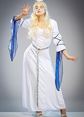 Magic Box Adut mujer blanco Witch Narnia Style Vestido Large (UK 16-18)