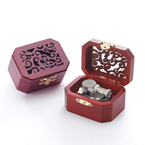 Anakin.jerry Wooden Octagon Carving Music Musical Box: : Here Comes The Sun (Soundtrack)